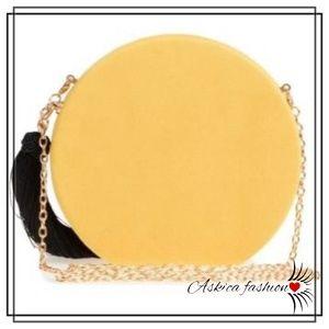 Natasha Accessories Round Tassel Clutch